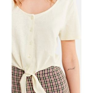 Tie Front Button Down Tee